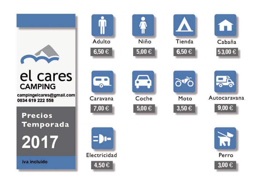 tarifas 2017 camping el cares picos de europa