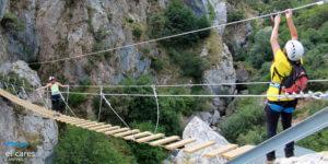 Vía-Ferrata-de-Valdeón-puente-tibetano