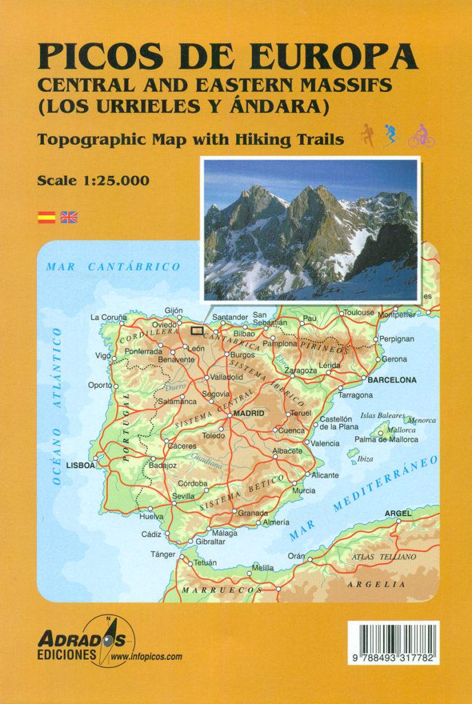 mapa-de-Miguel-Adrados-De-picos-de-Europa-escala-1:25.000-macizos-Central-y-Oriental