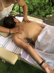 Natural therapies in Camping el Cares