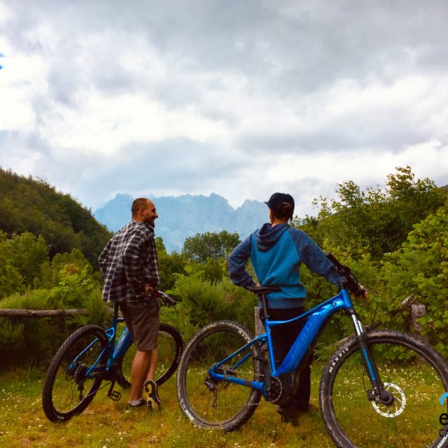 Electric mountain bikes in Picos de Europa