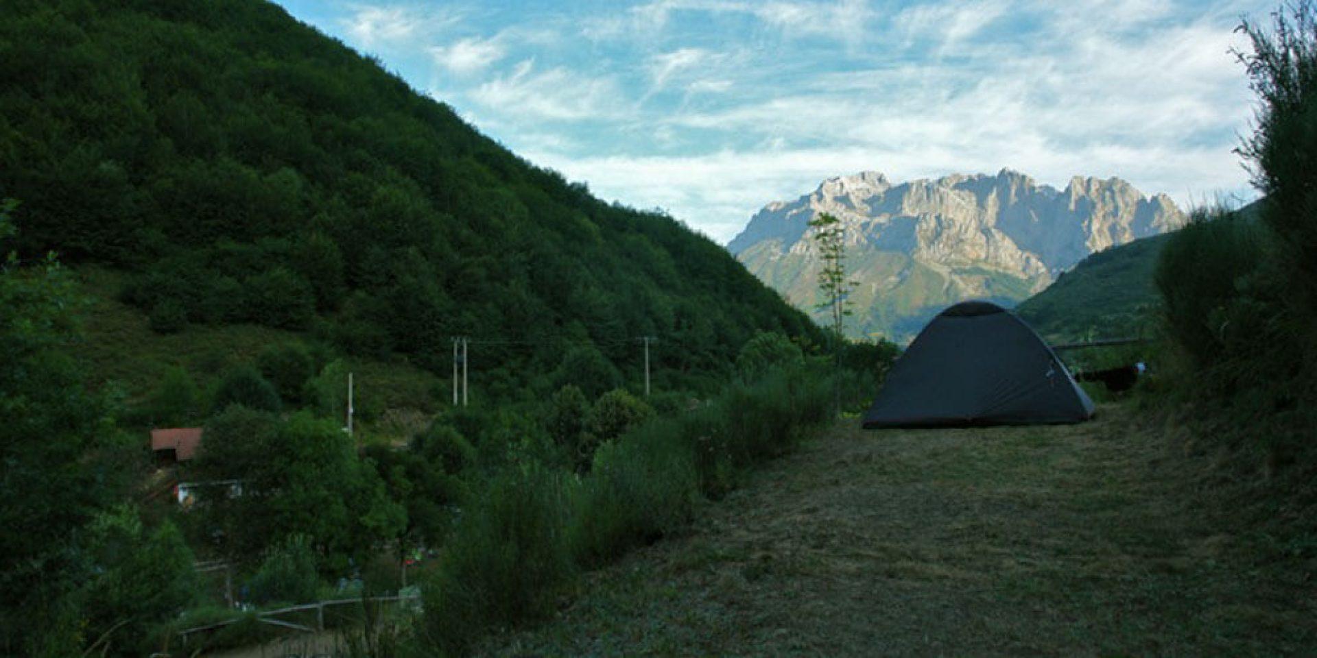 acampada en mirador