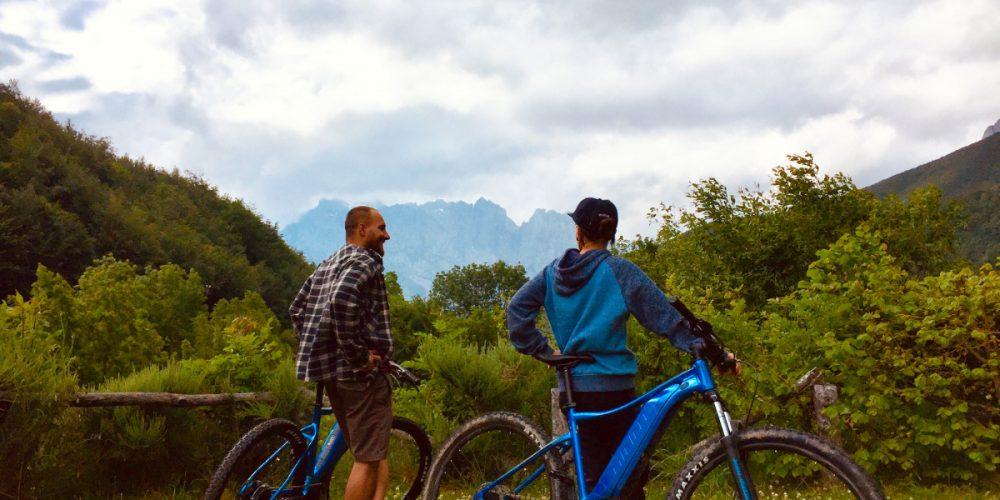 Electric mountain bikes in Picos de Europa