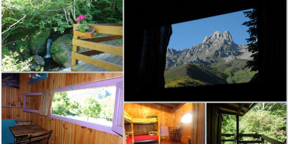 cabaña de madera collage